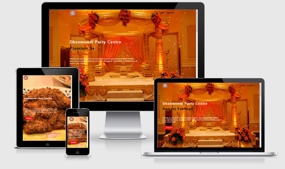 Corporate Website- Dhanmondi Party Center